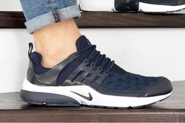 Мужские кроссовки Nike Air Presto TP QS темно-синие с белым