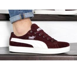 Купить Мужские кроссовки Puma Suede бордовые
