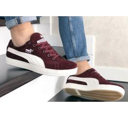 Купить Мужские кроссовки Puma Suede бордовые в Украине