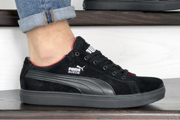 Мужские кроссовки Puma Suede черные