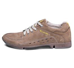 Купить Мужские туфли Columbia с перфорацией бежевые