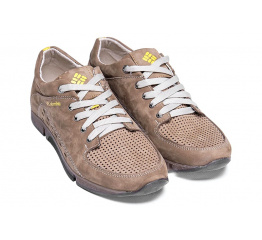 Купить Мужские туфли Columbia с перфорацией бежевые в Украине