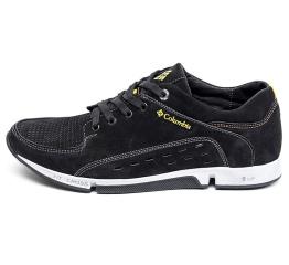 Купить Чоловічі туфлі Columbia з перфорацією чорні