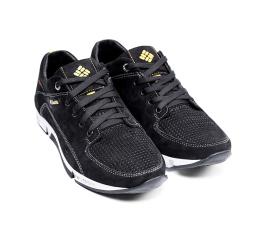 Купить Мужские туфли Columbia с перфорацией черные в Украине