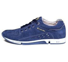 Купить Чоловічі туфлі Columbia з перфорацією сині