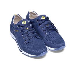 Купить Мужские туфли Columbia с перфорацией синие в Украине