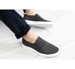 Купить Мужские туфли Levi's темно-коричневые в Украине