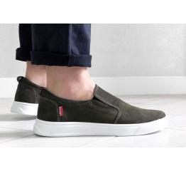 Купить Мужские туфли Levi's темно-зеленые