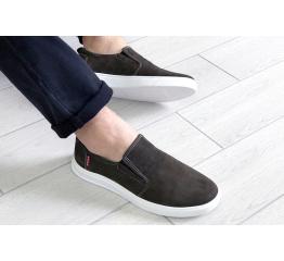 Купить Мужские туфли Levi's темно-зеленые в Украине