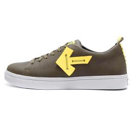 Купить Чоловічі туфлі Off White Don't Stop зелені