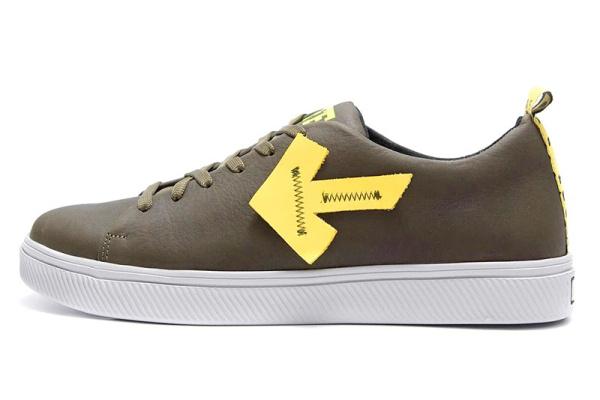 Мужские туфли Off White Don't Stop зеленые