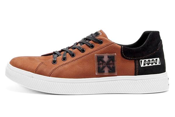 Мужские туфли Off-White Without Limits светло-коричневые