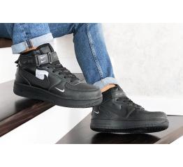 Купить Мужские высокие кроссовки Nike Air Force 1 '07 Mid Lv8 Utility черные в Украине