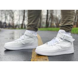 Купить Мужские высокие кроссовки Nike Air Force 1 белые