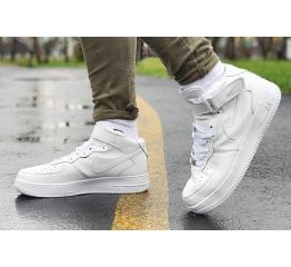 Купить Мужские высокие кроссовки Nike Air Force 1 белые в Украине