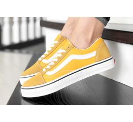 Купить Женские кеды Vans Old Skool желтые с белым