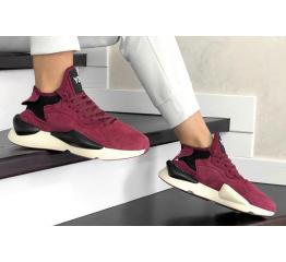 Купить Женские кроссовки Adidas Y-3 Kaiwa бордовые