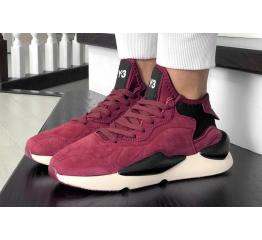 Женские кроссовки Adidas Y-3 Kaiwa бордовые