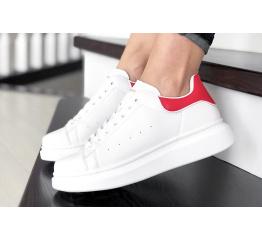 Купить Жіночі кросівки Alexander McQueen Oversized Sole Low Sneaker білі з червоним