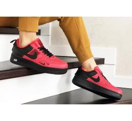 Купить Женские кроссовки Nike Air Force 1 '07 Lv8 Utility красные с черным