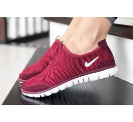 Купить Женские кроссовки Nike Air Free Run 3.0 Slip-On бордовые