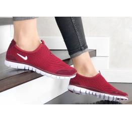 Купить Женские кроссовки Nike Air Free Run 3.0 Slip-On бордовые в Украине