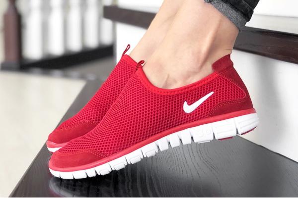 Женские кроссовки Nike Air Free Run 3.0 Slip-On красные