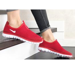Купить Женские кроссовки Nike Air Free Run 3.0 Slip-On красные в Украине