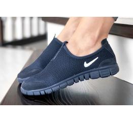 Купить Женские кроссовки Nike Air Free Run 3.0 Slip-On темно-синие