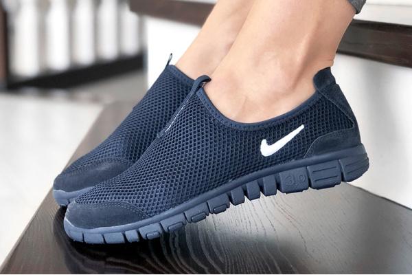 Женские кроссовки Nike Air Free Run 3.0 Slip-On темно-синие