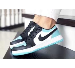 Купить Женские кроссовки Nike Air Jordan 1 Low бирюзовые с белым и черным