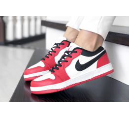 Купить Женские кроссовки Nike Air Jordan 1 Low красные с белым
