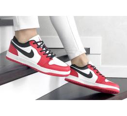 Купить Женские кроссовки Nike Air Jordan 1 Low красные с белым в Украине