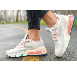 Женские кроссовки Nike Air Max 270 React бежевые