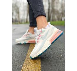 Купить Женские кроссовки Nike Air Max 270 React бежевые