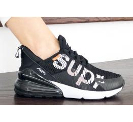 Женские кроссовки Nike Air Max 270 x Supreme черные с белым