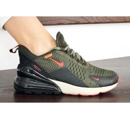Купить Жіночі кросівки Nike Air Max 270 зелені з чорним