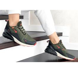 Женские кроссовки Nike Air Max 270 зеленые с черным