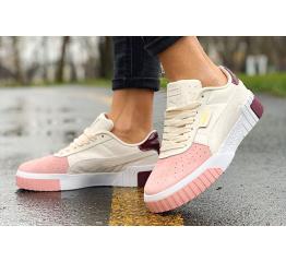 Женские кроссовки Puma Cali Remix Wn's бежевые с розовым