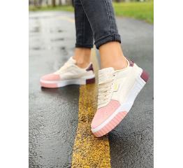 Купить Женские кроссовки Puma Cali Remix Wn's бежевые с розовым