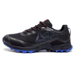 Мужские кроссовки Reebok черные с голубым