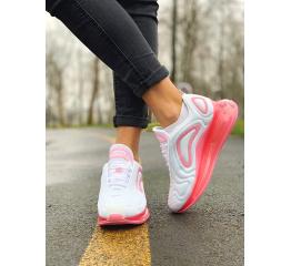 Купить Женские кроссовки Nike Air Max 720 белые с розовым