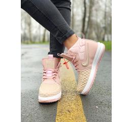 Купить Женские высокие кроссовки Nike Lunar Force 1 Duckboot розовые
