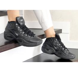 Купить Жіночі високі кросівки Reebok Question Mid чорні в Украине