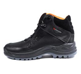 Купить Мужские ботинки на меху Ecco Biom черные с оранжевым