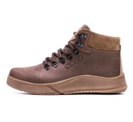 Купить Мужские ботинки на меху Ecco коричневые