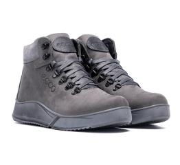 Купить Мужские ботинки на меху Ecco серые в Украине