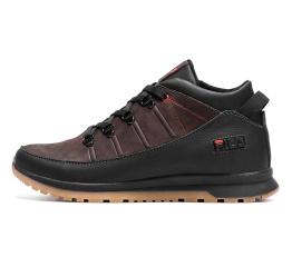 Мужские ботинки на меху Fila коричневые