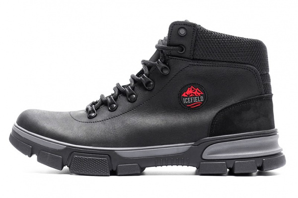 Мужские ботинки на меху Icefield черные