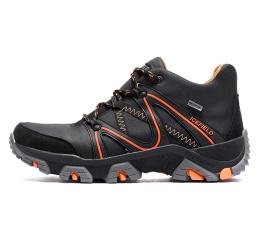Купить Чоловічі черевики зимові IceField Gore-Tex чорні з помаранчевим
